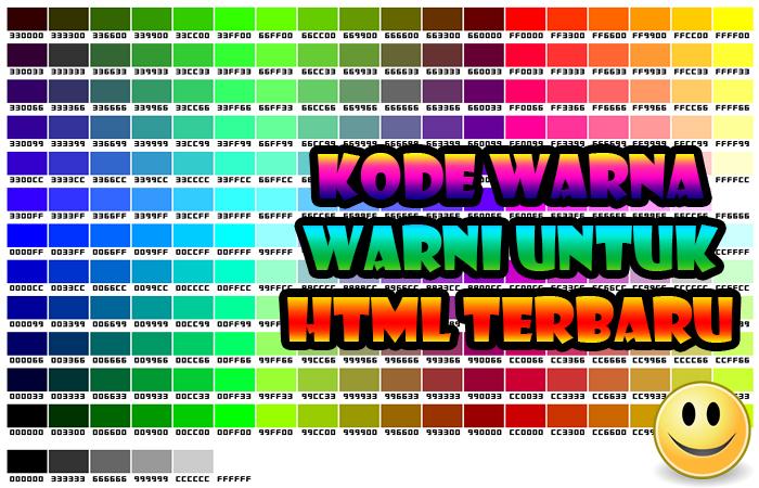 Kode Warna Warni Untuk HTML Terbaru