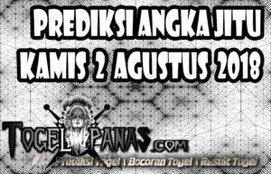 Prediksi Angka Jitu Togel Kamis 2 Agustus 2018