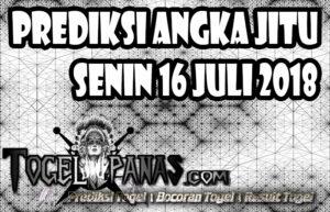 Prediksi Angka Jitu Togel Senin 16 Juli 2018