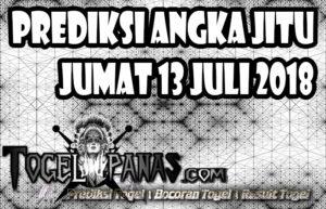 Prediksi Angka Jitu Togel Jumat 13 Juli 2018