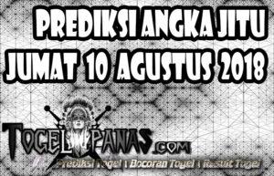 Prediksi Angka Jitu Togel Jumat 10 Agustus 2018