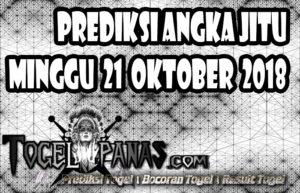 Prediksi Angka Jitu Togel Minggu 21 Oktober 2018