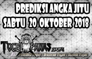 Prediksi Angka Jitu Togel Sabtu 20 Oktober 2018