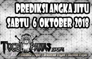Prediksi Angka Jitu Togel Sabtu 6 Oktober 2018