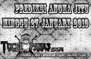 Prediksi Angka Jitu Togel Minggu 27 January 2019