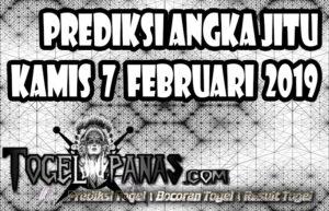 Prediksi Angka Jitu Togel Kamis 7 Februari 2019