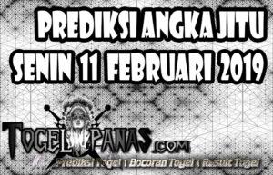 Prediksi Angka Jitu Togel Senin 11 Februari 2019