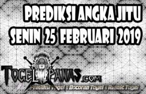 Prediksi Angka Jitu Togel Senin 25 Februari 2019