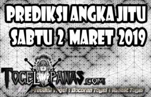 Prediksi Angka Jitu Togel Sabtu 2 Maret 2019