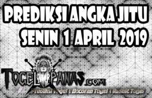 Prediksi Angka Jitu Togel Senin 1 April 2019
