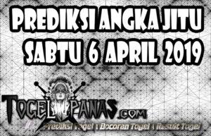 Prediksi Angka Jitu Togel Sabtu 6 April 2019