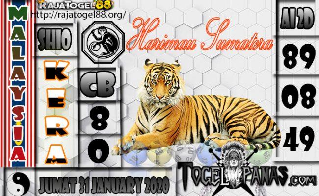 Prediksi Togel MALAYSIA 31 January 2020