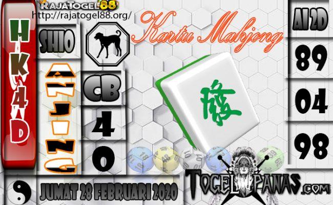 Prediksi Togel HK4D 28February 2020